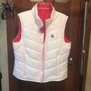 Ohio State reversible puffer vest